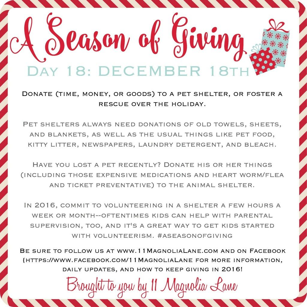 A Season of Giving: Day 18
