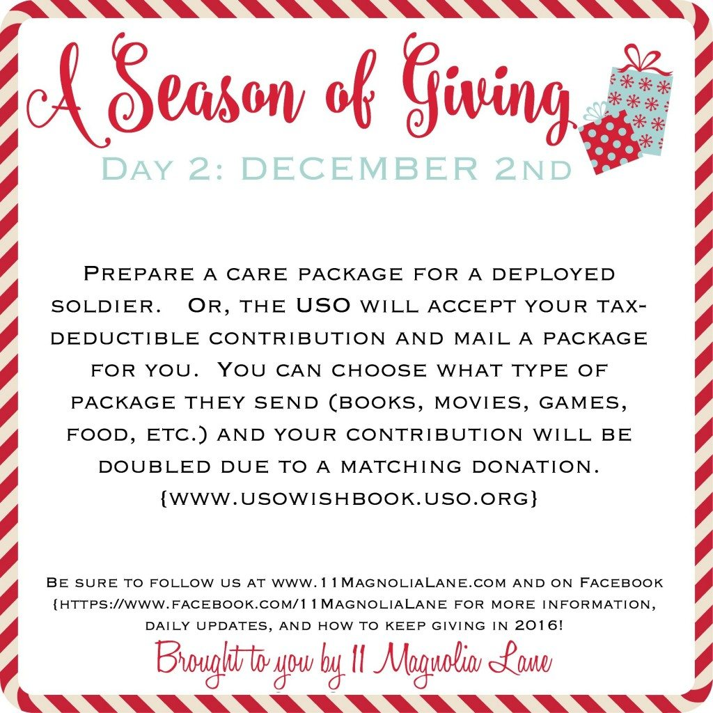 A Season of Giving 2015: Day 2
