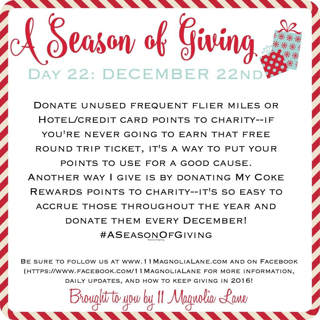 A Season of Giving: Day 22