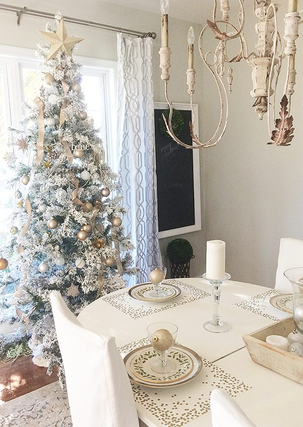 dining room tree at home