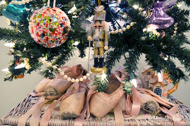 Pointe shoes under Christmas tree | 11 Magnolia Lane