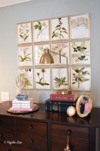 DIY botanical gallery wall | 11 Magnolia Lane