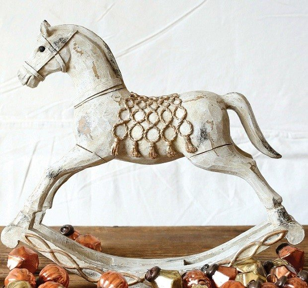 distressed-ivory-and-gold-rocking-horse