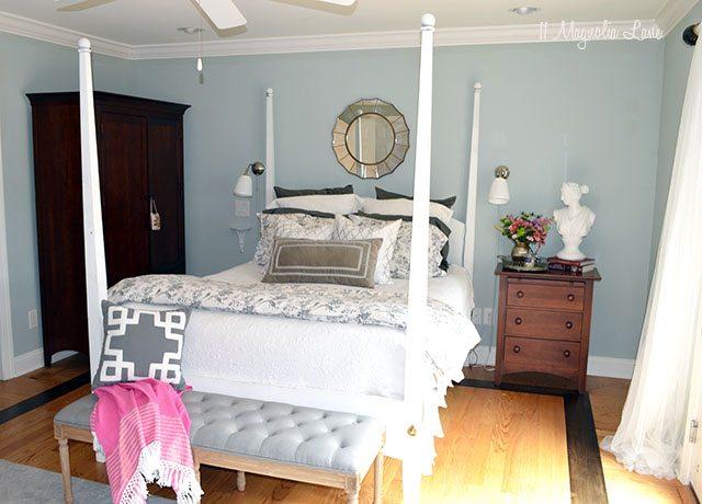 Master bedroom painted with HomeRight PaintStick EZTwist | 11 Magnolia Lane
