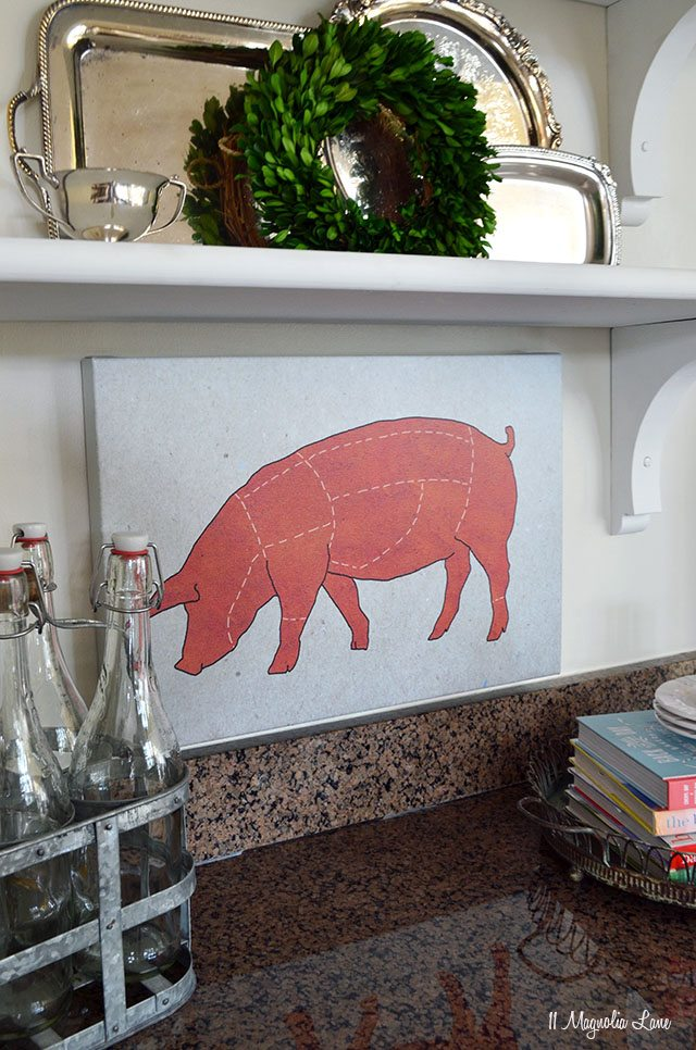 Pig kitchen canvas from photos.com | 11 Magnolia Lane
