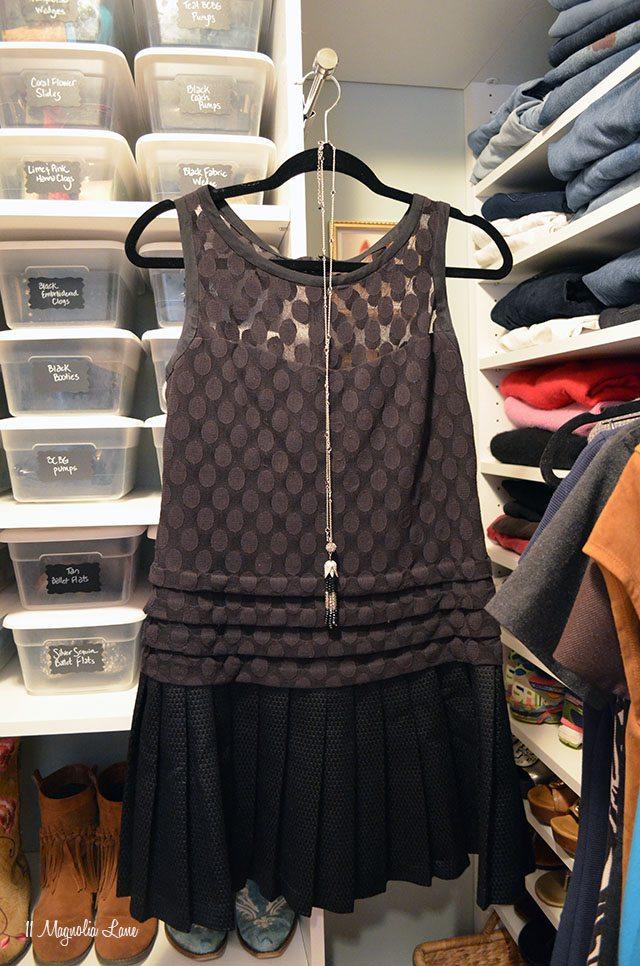 Organized closet   11 Magnolia Lane