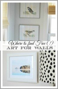 Have empty walls? See how to create and frame inexpensive or completely FREE art to decorate your home.