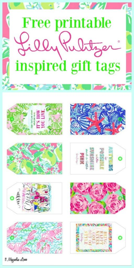 Free Printable Lilly Pulitzer Inspired Gift Tags | 11