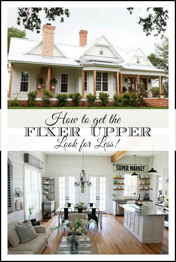 Getting The Fixer Upper Look For Less Easy Sources For Farmhouse