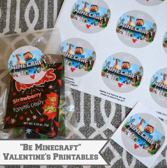 Minecraft Valentines Day Printables