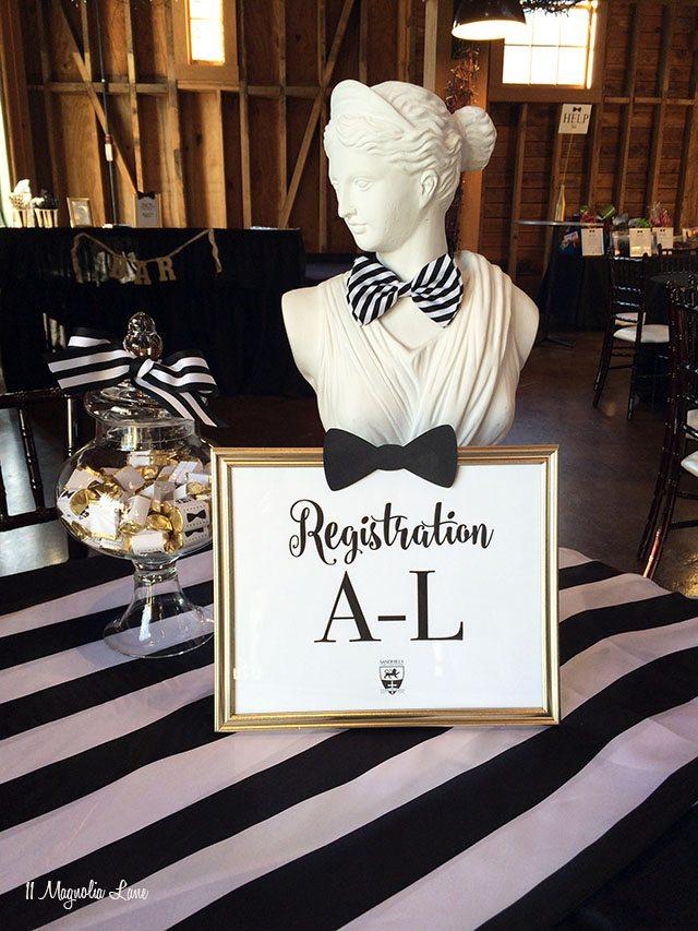 Auction registration table