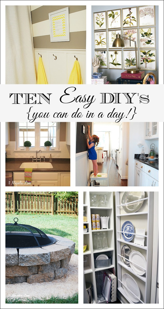 10 Easy Decor & DIY Projects You Can Do In A Day {Or Less ...
