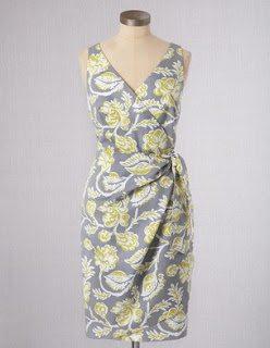 Boden Portofino Dress Grey Yellow