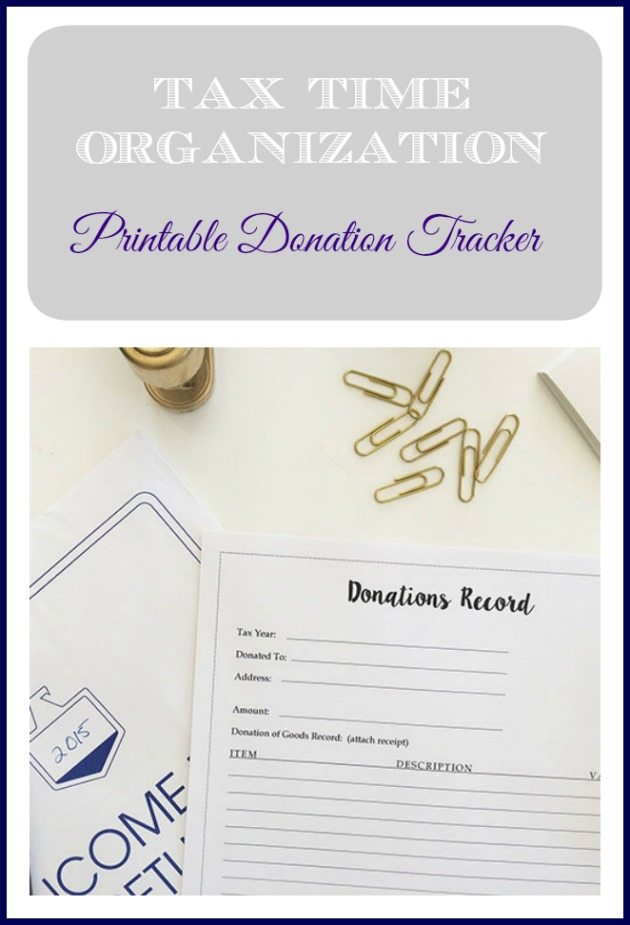 Don't get caught at tax time without a record of all your charitable donations. Use the printable donation tracker to record all your donations so you can deduct it from your taxable income. You'll be glad you did! Pin for later :)