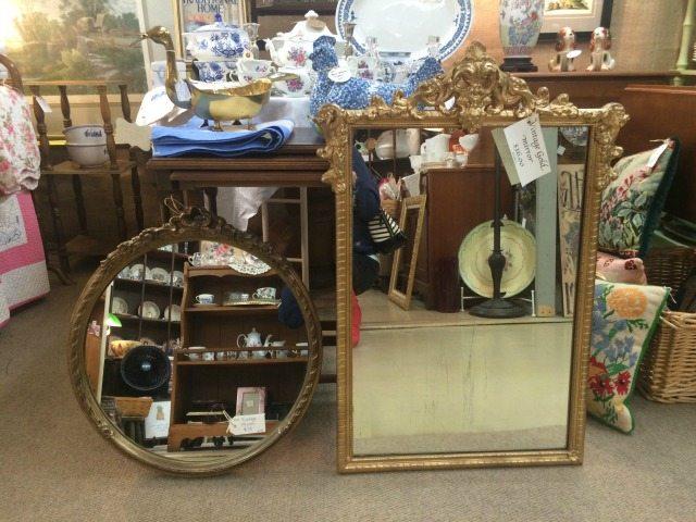 Antique gold mirrors
