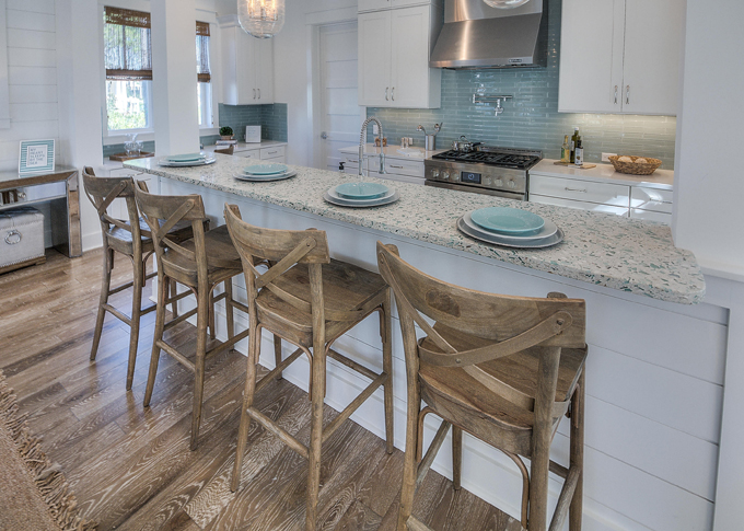 Gorgeous kitchen from David Weekly Homes via House of Turquoise--this house is stunning!