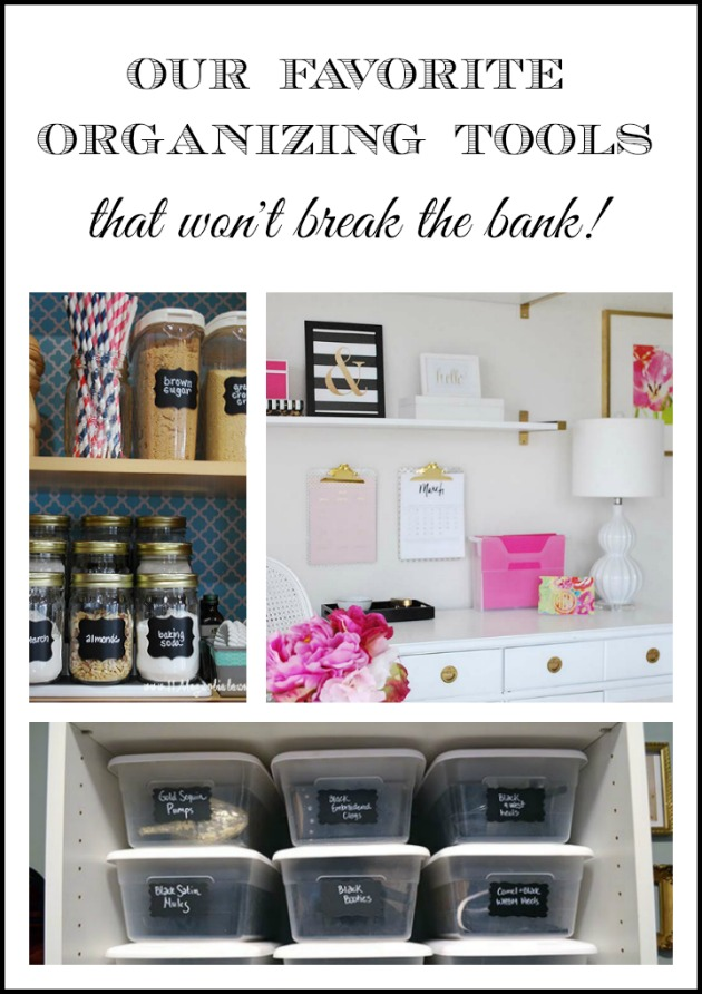 How to organize your home on a budget using inexpensive items you already have on hand or from discount sources to organize your home.