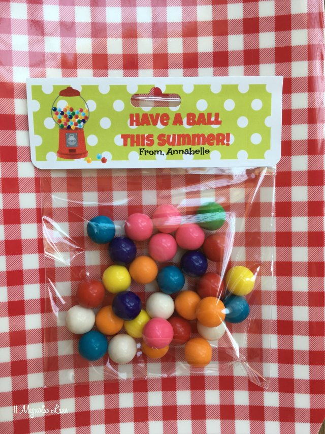 """Have a Ball"" end of school year class gift 