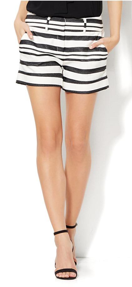Black and white striped shorts | 11 Magnolia Lane