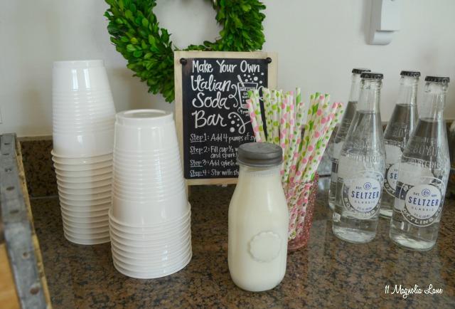 Easy entertaining: Italian soda and ice cream sundae bar | 11 Magnolia Lane