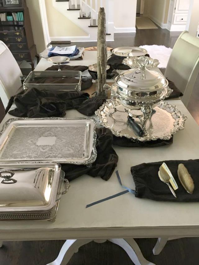vintage silver platters