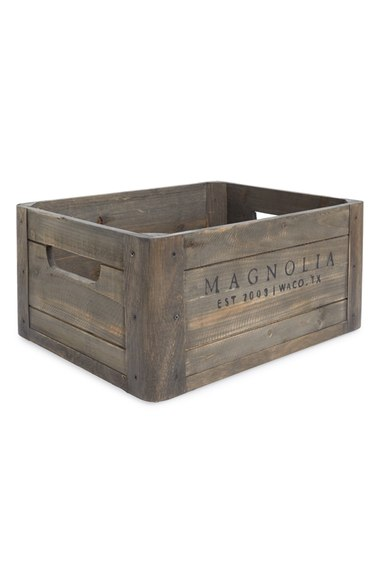 Did you know you can buy Joanna Gaines home decor at Nordstrom? Love this crate so much!