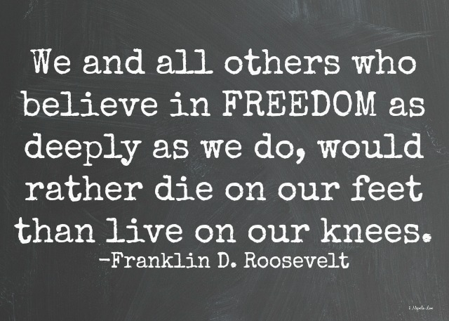Roosevelt quote on freedom