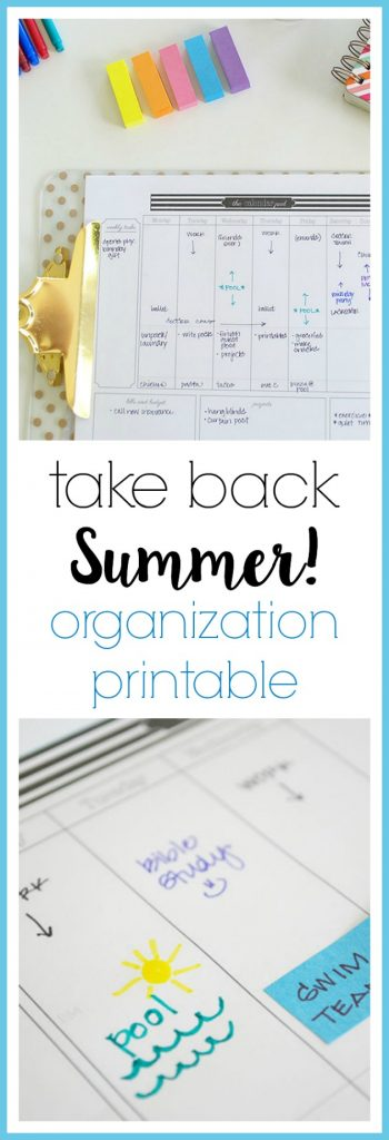 Use a simple weekly printable to schedule work time and play time all summer long--see how easy it is to stay in control of your summer!