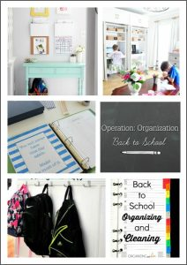 Operation: Organization Back to School 2016!