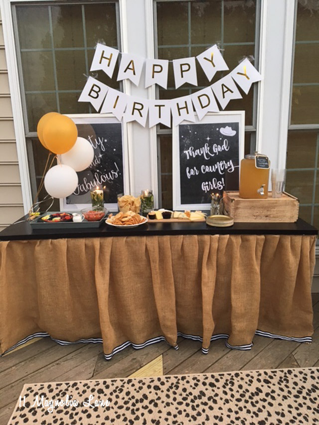 Country Girls Elegant Themed Party Wedding 40th