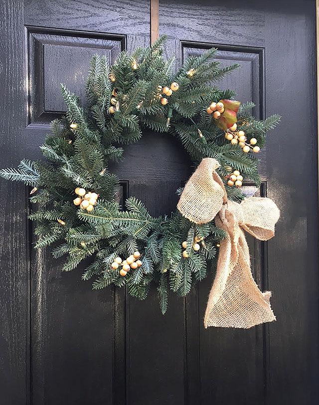 Pretty and easy Fall wreath