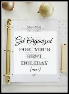 Easy ways to get organized for the holidays ahead of time this year. Save stress, prepare and be ready when Christmas arrives!