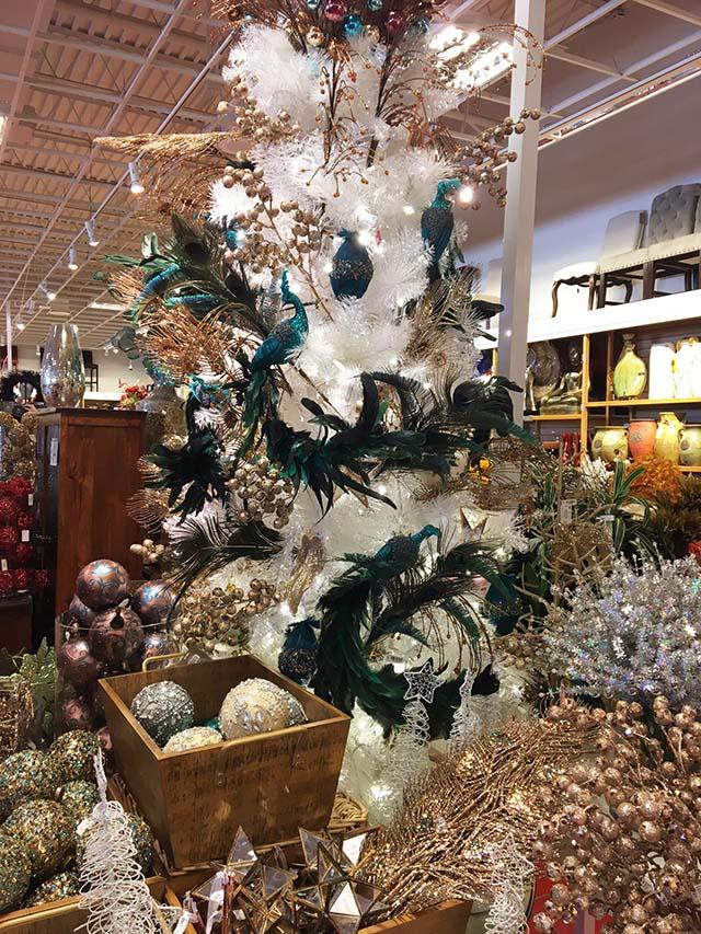 white tree peacocks pier 1