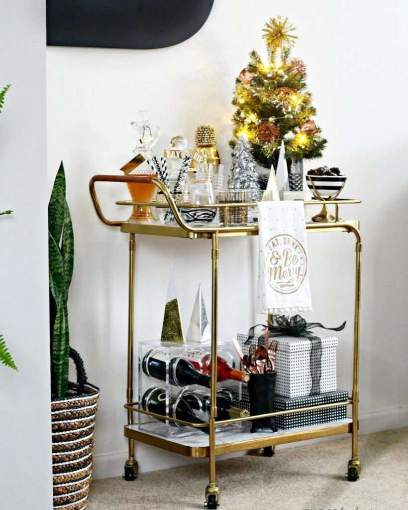Christmas bar cart   This Is Our Bliss