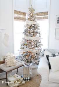 Popular + Affordable Flocked Christmas Trees