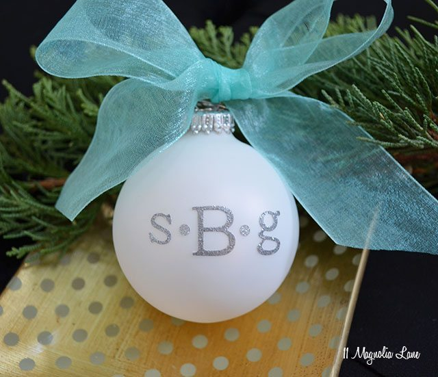 Easy DIY Gift Idea: Monogrammed Christmas Ornaments | 11 Magnolia Lane