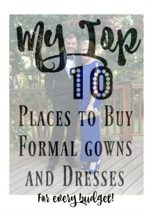 My top 10 places to buy formal gowns and dresses -for every budget! | 11 Magnolia Lane
