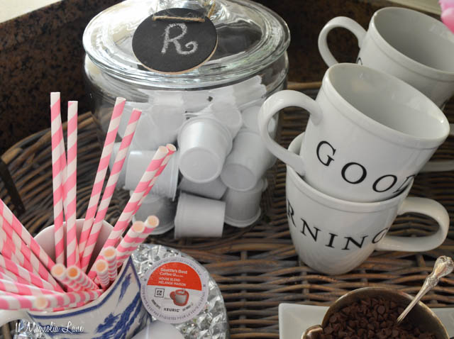 Set up a coffee bar or station to make mornings run more smoothly!   11 Magnolia Lane