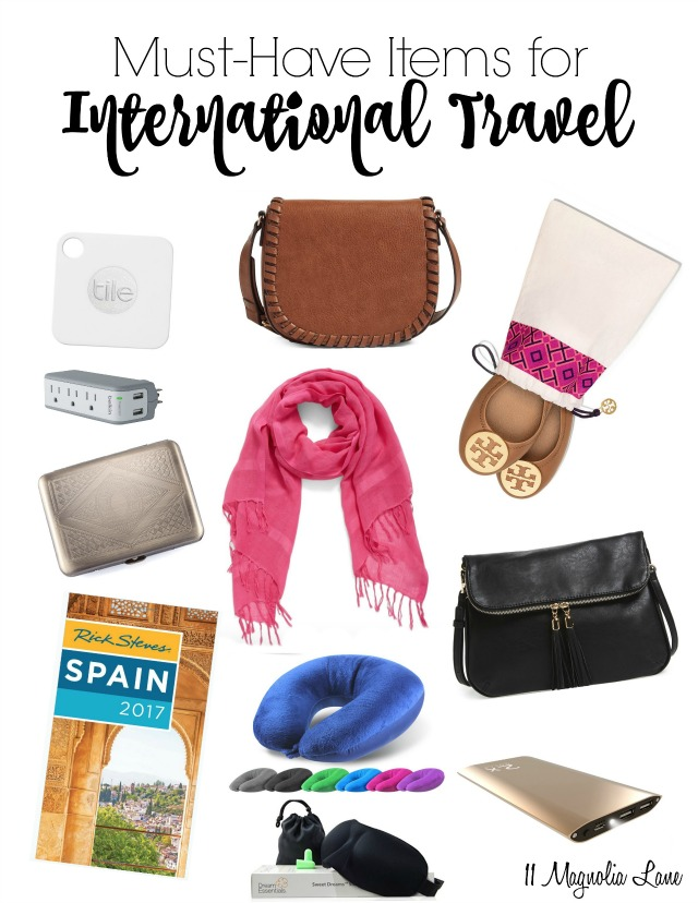 My Must-Have Items for International Travel
