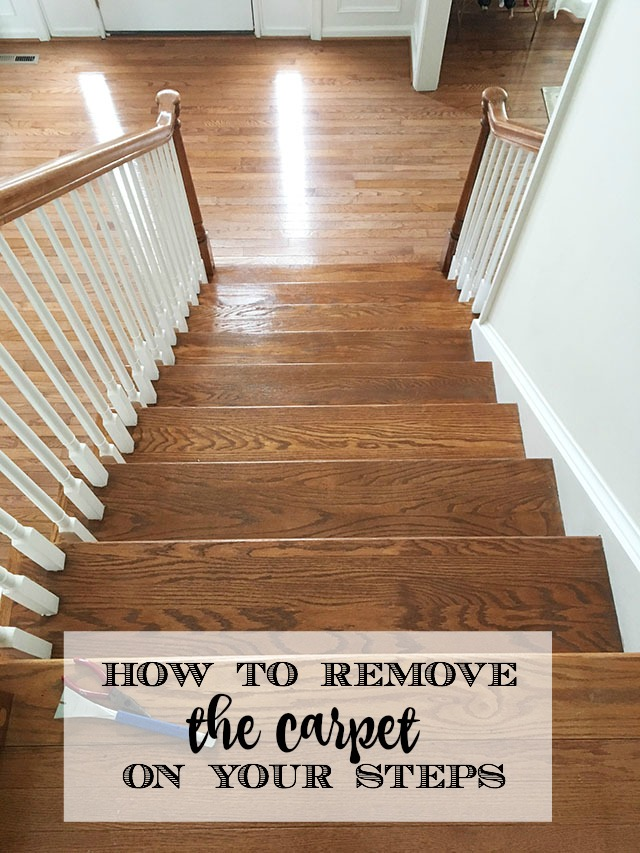 How To Remove The Dirty Carpet Runner From Your Wood Stairs 11