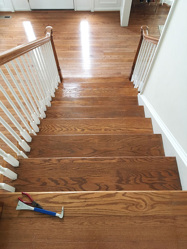 ... Runner That Was Showing Its Age {our House Is 11 Years Old} With Oak  Treads Underneath. {If You Donu0027t Have Hardwood Stairs Under Your Carpet, ...