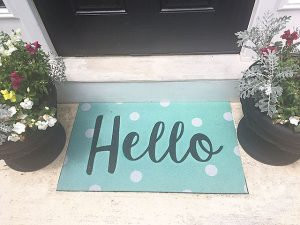 Outdoor Doormat Giveaway and Our Updated Master Bathroom