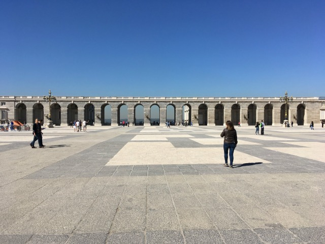 Madrid Spain courtyard of royal palace