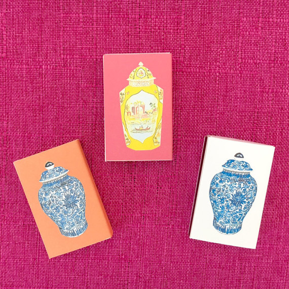 Annechovie ginger jar matchboxes