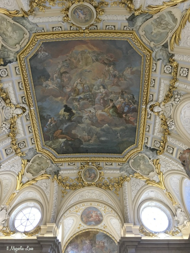 Spain-Madrid-Royal Palace Ceiling