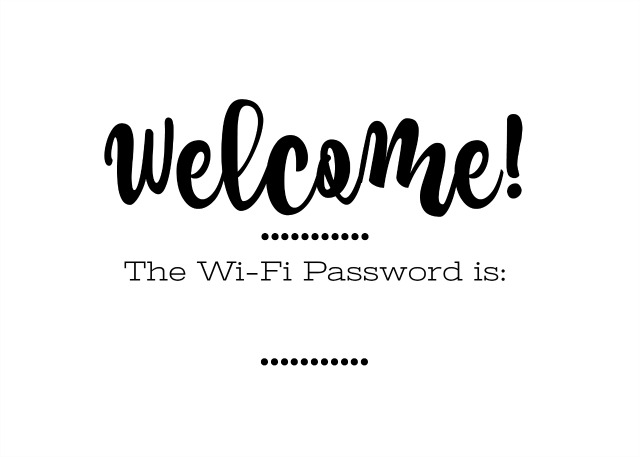 photograph relating to Wifi Password Sign Printable titled Prepping for Website visitors and Absolutely free Printable Wi-Fi Pword Indicator