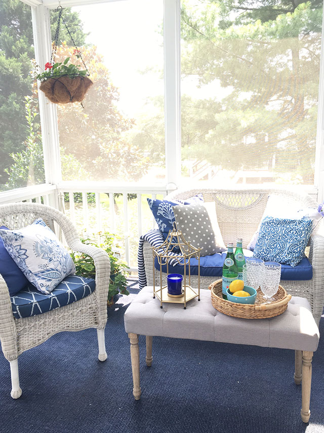 Summer Porch + Outdoor Table Setting