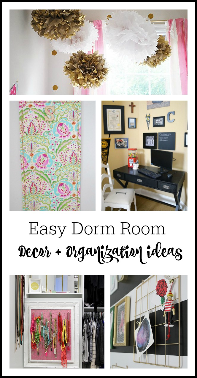 easy dorm decor ideas and small space, rental decor ideas.