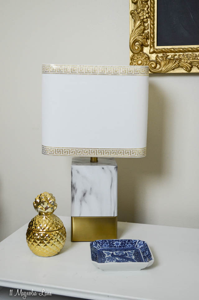 Ribbon embellished lamp shade | 11 Magnolia Lane