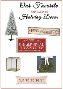 Where You Can Find Affordable Holiday Decor Online {And Inexpensive Flocked Trees}